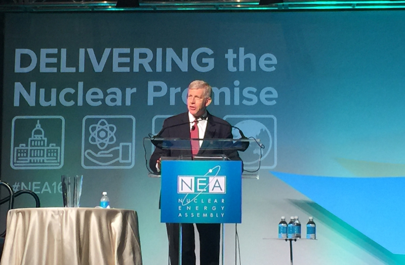 Daniel B. Poneman speaks at the Nuclear Energy Assembly, May 25, 2016
